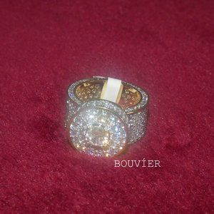 18K Solid Gold Diamond Cluster Ring